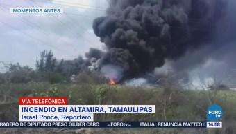 Reportan Fuerte Incendio Altamira, Tamaulipas