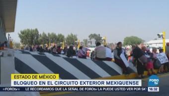 Retiran bloqueo en el Circuito Exterior Mexiquense
