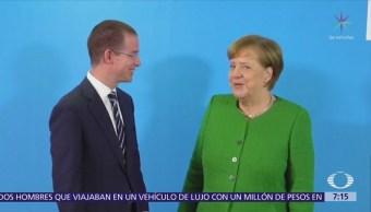 Ricardo Anaya se reunió con Angela Merkel en Alemania