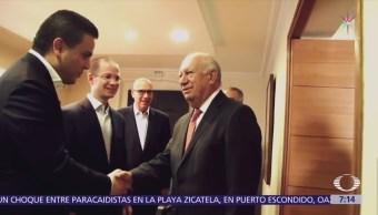 Ricardo Anaya se reunió en Chile con los expresidentes Lagos y Frei