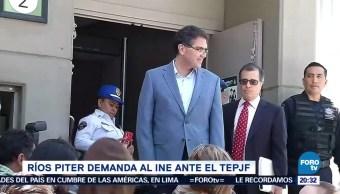 Ríos Piter demanda al INE ante el TEPJF