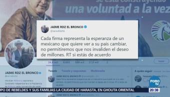 Ríos Piter y 'El Bronco' critican resolución del INE