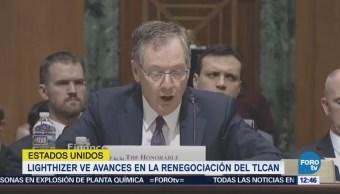 Robert Lighthizer reconoce avances en la renegociación del TLCAN
