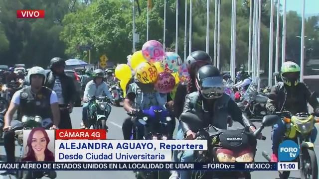 Rodada de motociclistas en CU en honor a las personas con Síndrome de Down