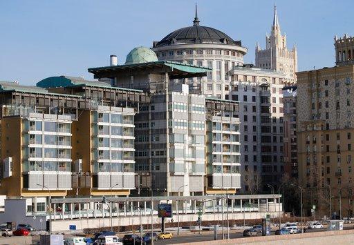 Edificio de la embajada birtánica. Rusia expulsa a diplomáticos por solidarizarse con Reino Unido. AP