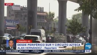 Sábado Tránsito Periférico Sur Circuito Azteca