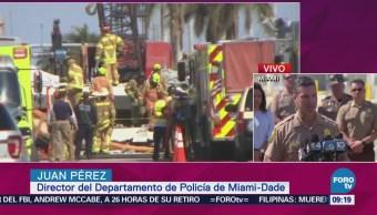 Autoridades Eu Recuperan Tres Cuerpos Más Puente Colapsado Miami