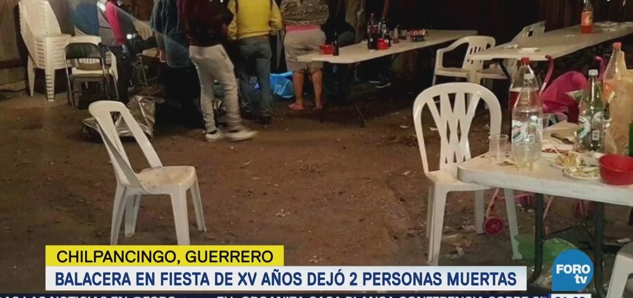 Se registra balacera en fiesta de 15 años en Guerrero