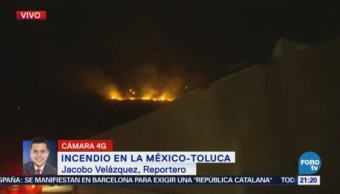 Registra Incendio Forestal Naucalpan-Toluca