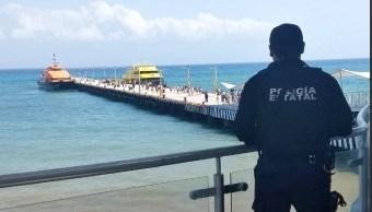 Intensifican vigilancia en Playa del Carmen tras explosión de ferry