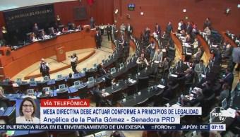 Senadora Angélica de la Peña pide a Cordero imparcialidad en mesa directiva