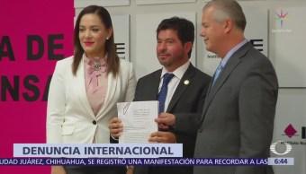 Senadores del PAN denuncian ante OEA acciones del Gobierno contra Anaya