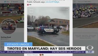Suman 6 heridos por tiroteo en escuela de Maryland, Estados Unidos