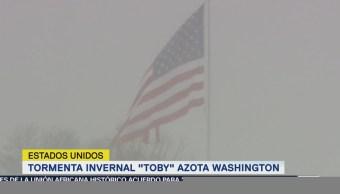 Tormenta invernal 'Toby' azota Washington