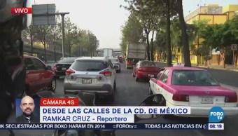 Tráfico complicado en Francisco del Paso y Troncoso, CDMX