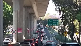 Tránsito lento en Viaducto Tlalpan y carretera a Toluca por salida de vacacionistas desde CDMX