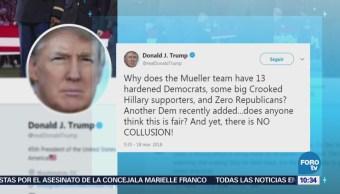 Trump acusa a investigadores de trama rusa de tener sesgo demócrata