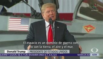 Trump anuncia creación de nueva fuerza espacial estadounidense