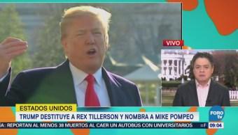 Trump destituye a Rex Tillerson y nombra a Mike Pompeo
