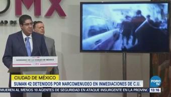 Van 42 narcomenudistas detenidos en los alrededores de CU, informa la Procuraduría