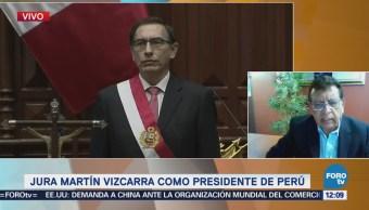 Vizcarra asume presidencia en Perú en medio de crisis