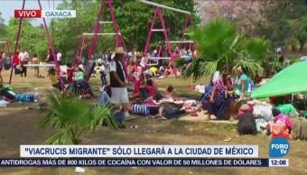 800 integrantes del 'Viacrucis Migrante' continúan en Matías Romero, Oaxaca