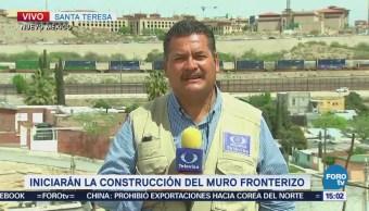 Inicia Construcción Muro Metálico Entre México Eu