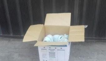 Abandonan a recién nacido en una caja en la delegación Iztapalapa