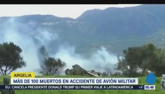 Accidente aéreo en Argelia deja 181 militares muertos