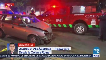 Accidente vehicular deja un lesionado en la colonia Roma, CDMX