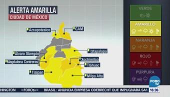 Activan Alerta Amarilla 9 Delegaciones Cdmx