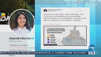 Barrales Promete Más Metro Metrobús, Ciclovías Metrocable