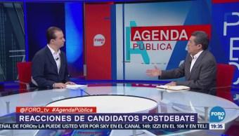 Análisis Reacciones Candidatos Después Debate Presidencial