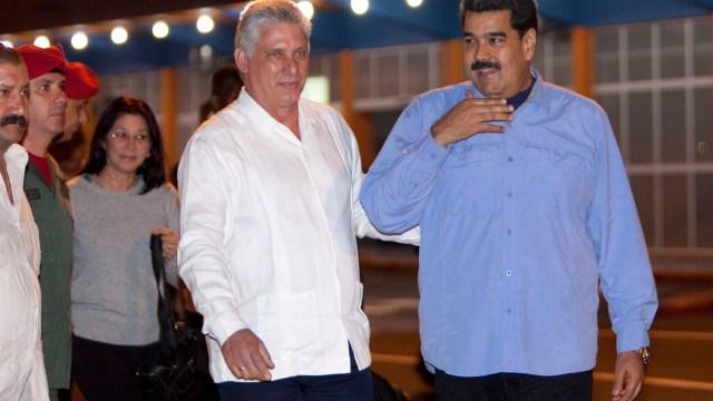 Nuevo presidente de Cuba recibe a Nicolás Maduro en La Habana