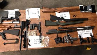 Aseguran en Saltillo Coahuila armamento procedente de EU
