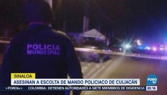 Asesinan a escolta de secretario de Seguridad Pública de Culiacán