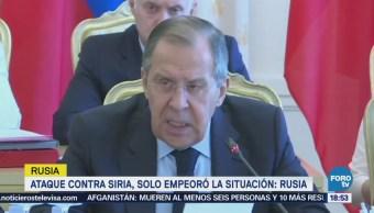 Ataque Contra Siria Empeoró Situación Rusia