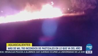 Aumentan incendios forestales Aguascalientes