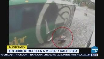 Autobús Atropella Mujer Sale Ilesa Querétaro