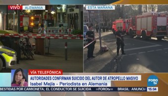 Autoridades Confirman Suicidio Autor Atropello Masivo Alemania