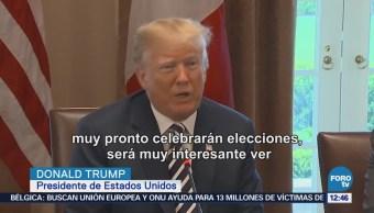 Avanza la renegociación del TLCAN, dice Trump