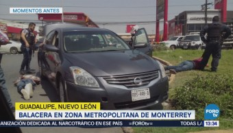Balacera Tres Lesionados Guadalupe, Nl