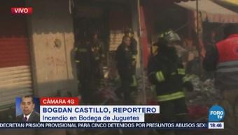 Bomberos Controlan Incendio Bodega De Juguetes Cdmx