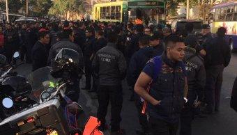 Bomberos de la CDMX realizan asamblea en Estación Central