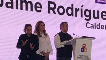 Jaime Rodríguez Calderón se compromete con desarrollo integral de la niñez