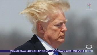 Cabello de Trump le hace pasar otro mal rato