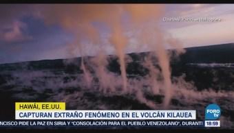 Capturan Extraño Fenómeno Volcán Kilauea