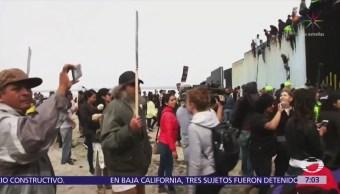 Caravana del migrante llega a la frontera con EU