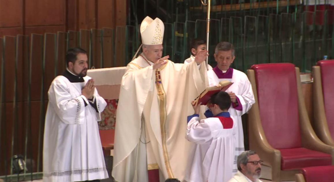 cardenal aguiar misa resurreccion basilica catolicos