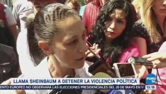 Sheinbaum Llama Autoridades Detener Violencia Política